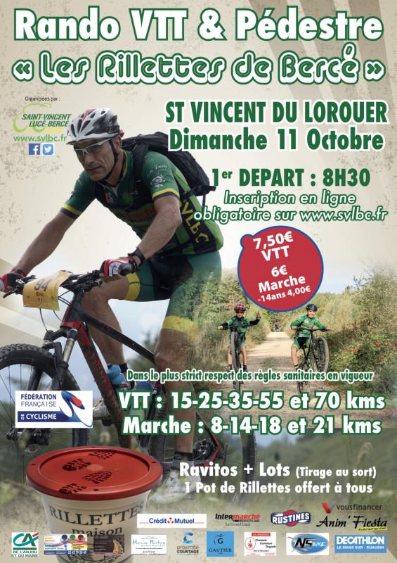 Calendrier Randonnée Pédestre Sarthe 2021 Saint Vincent du Lorouër   les Rillettes de Bercé   randonnée VTT